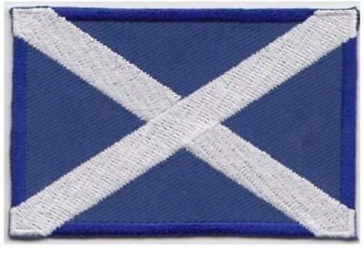 Scotland Embroidered Flag Patch Badge Saltire Scottish Flag