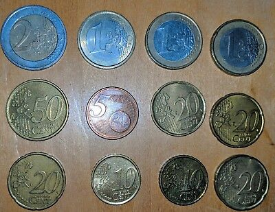 EURO Coin Lot - Various Countries and Dates, $6.55 Face Value