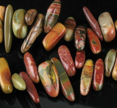 """NEW Multi-color Picasso Jasper Chip Spacer Loose Beads 15"""""""
