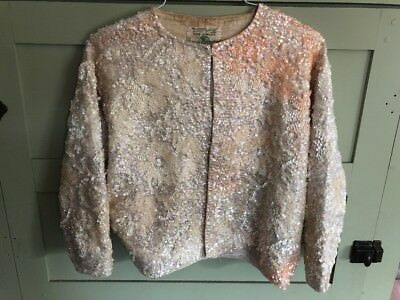 Vintage Gene Shelly's Boutique International Lambswool Sequined Sweater! L@@k!!!