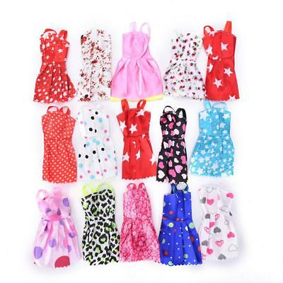 10PCS/set Mixed Style Handmade Doll Dress for Barbie Fashion Summer Party