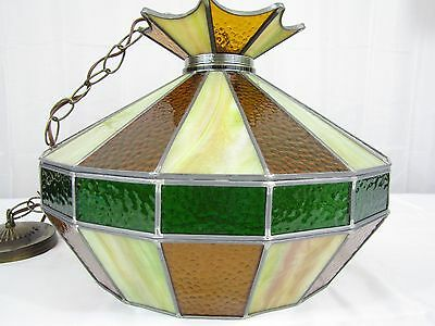 Swag Lamp Stained Glass Hanging