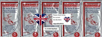 5x Burnshield 3.5ml Sachets Emergency Burn & Scald Care First Aid CE Certified