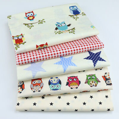 One PCS Cotton Fabric Pre-Cut Cotton cloth Fabric for Sewing Owl D77