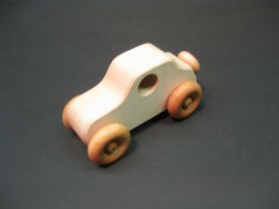 H318 Maple Old Style Coupe, Wood Toy Car, Wooden Car, Handmade, Handcrafted
