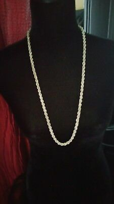 Vintage Henkel Grosse 1971 Germany 925 Silver Rope Twist Chain Necklace 52g