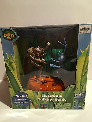 Disney Pixar A Bug's Life Electronic Bank Flik And Hopper New Factory Sealed