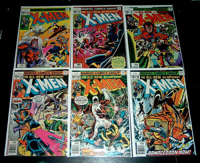 Lot Of 6 Marvel Comics ~ X-Men  #104, 106, 107, 108, 109, 110 ~Wolverine Magneto