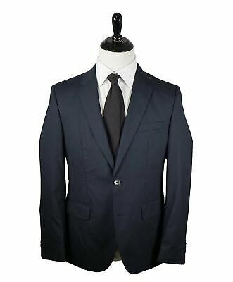 "$995 HUGO BOSS - Navy Tonal Stripe ""Travel"" Suit W Horn Buttons - 38R 2018!"
