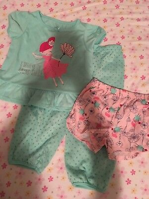 Carters Just One You Girls Fairy Size 2T Pajamas Set