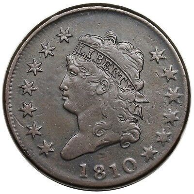 1810 Classic Head Large Cent, S-284, R.3, VF-XF