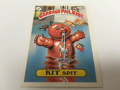 1987 UK Garbage Pail Kids 5th Series 171b KIT Spit : Checklist Black Bars
