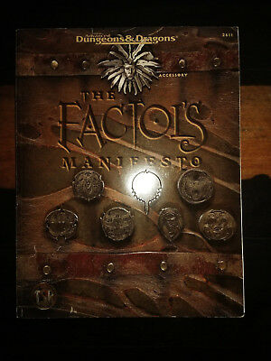 "Ad&D 2nd Edition - PLANESCAPE - Manual ""The Factols Manifesto"""