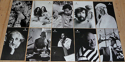 """Set of 10 mint APPLE POSTERS THINK DIFFERENT * 17/11"""" EDUCATIONAL SET Steve Jobs"""