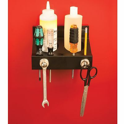 Magnetic Spray Can/Screwdriver Holder with Magnetic Hooks