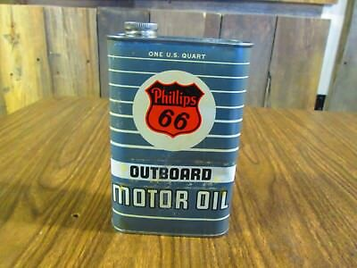 Vintage-Phillips 66 Outboard Motor Oil Can-Quart