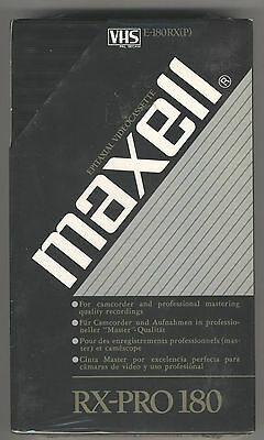 MAXELL RX-PRO 180  VHS Videocassette in Masterqualität - ovp!!!