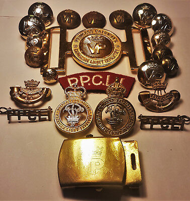 WW1 WW2 CEF PPCLI Princess Patricia's lot of 23 cap badges belt patches + more!