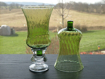 2 Home Interiors Lt Green Avocado Honeycomb Votive Candle Holders Sconce Cups
