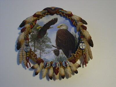 """The Hamilton Collection """"Watchful Eye"""" Soaring Spirits Shield Collection 1998"""