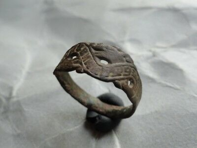 Medieval Finger Ring With Cyrillic Inscription