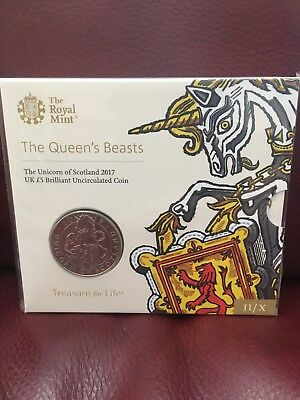 The Unicorn of Scotland 2017 UK Brilliant Uncirculated £5 Coin