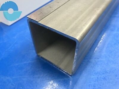 "Stainless Steel Square Tube Tubing 304. 4"" x 4"" x 3/16"" x 12"" long"