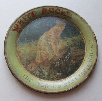ORIGINAL Vintage WHITE ROCK Table Water Round TIP TRAY Nymph