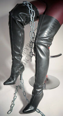 Domina LATEX High Heel Overknee Stiefel von Pleaser zum Demask Outfit