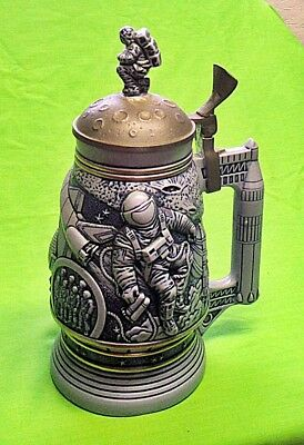 1991 Avon Conquest of Space Lidded Beer Stein Mug #13390