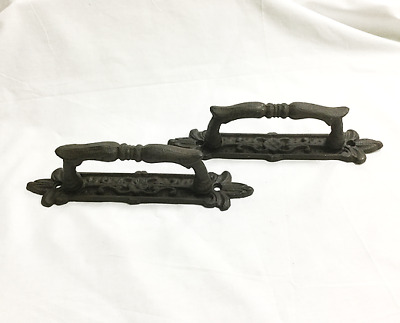 Set of 2 Cast Iron Vintage Antique Style Extra Larger Barn Handles