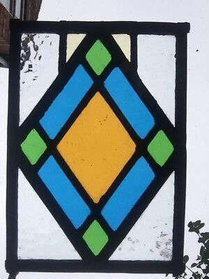 An Original Stained Glass Panel.