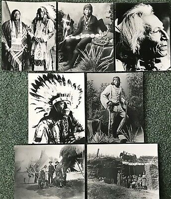 7 Frameable Photographs Native Americans Americana, Indian Chiefs Tribes Apaches