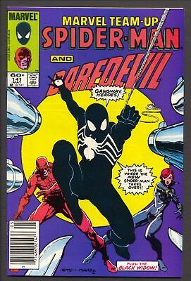 Marvel Team-Up #141 (1984)~Ties with ASM #252 as 1st black costume~FN/VF