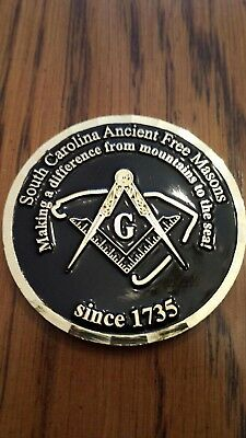 Freemasons Masonic Coin From South Carolina.