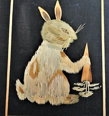 Picture of Rabbit , looks to be made from very thin slivers of wood , Bangladesh