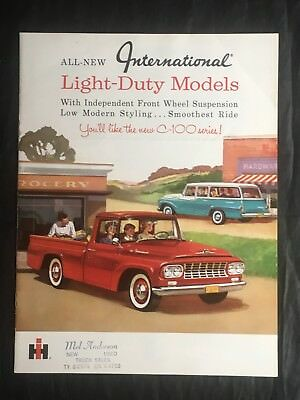 INTERNATIONAL LIGHT DUTY TRUCK SALES BROCHURE IH VINTAGE  (c)