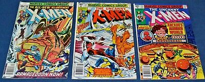 X-Men #108,121,123~ 1st John Byrne X-Men~1st Alpha Flight~ FN- to VF