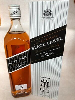 Johnnie Walker Black Label 12 Yrs Old ****ny 2017****limited Edition 750Ml