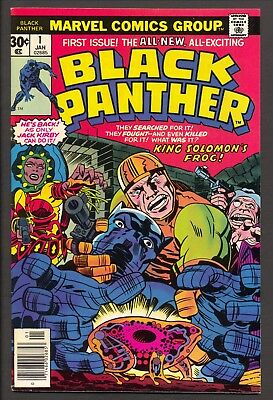 Black Panther #1 (1977)~1st solo title~ Jack Kirby story and art~Avengers~ FN-