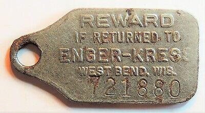Enger Kress Co. West Bend, Wisconsin  Not A Charge Coin ?? Advertising Token