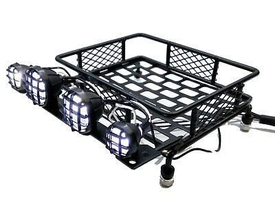 Rc Car Metallic Roof Rack Led Lights For Thunder Tiger Mta4 Mt4 Kyosho Mad Force