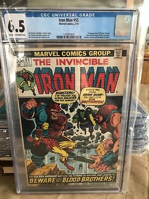 Iron Man 55 CGC 6.5 cream to off white pages 1st appearance of Thanos