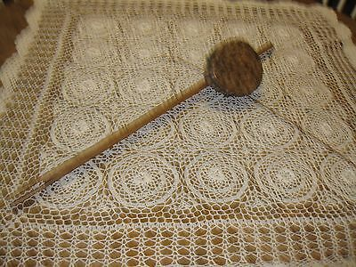 "Ceremonial Tribal Drum 26"" Long Rawhide Over Coconut?"