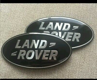 Land Rover Discovery 3 Badges Black & Silver ! Grill & Rear Door Oval Badge Set.