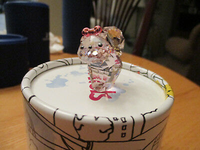 Swarovski Crystal Lovlots Katie Cat, Pink kitten with bow, Mint in Box