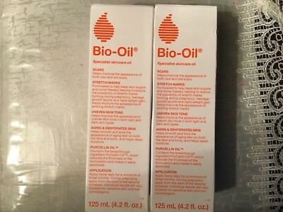 Bio Oil for Scars Stretch Marks Uneven Skin Tone Two Count 125 ml Each