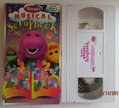 Barney Barneys Musical Scrapbook Vhs 1997 Tested Free Ship