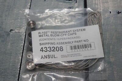 New Ansul R-102 Restaurant System Metal Blow off Caps 10 count 433208