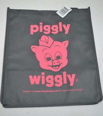 TWO Piggly Wiggly Brand Reusable Grocery Bags, with handles